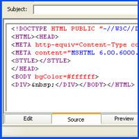 כיצד להטמיע קוד html בדואר אלקטרוני (Outlook Express)