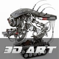 100 יצירות תלת מימד של רובוטים