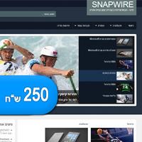 תבנית וורדפרס חדשה להורדה בתשלום – Snapwire